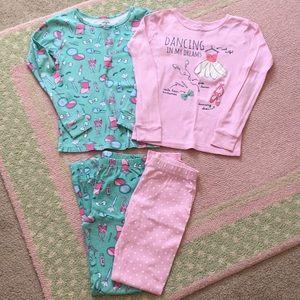 2 pairs of Carter's pajamas